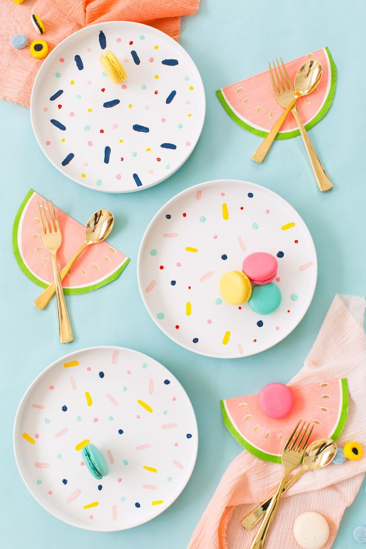 painted pattern plates