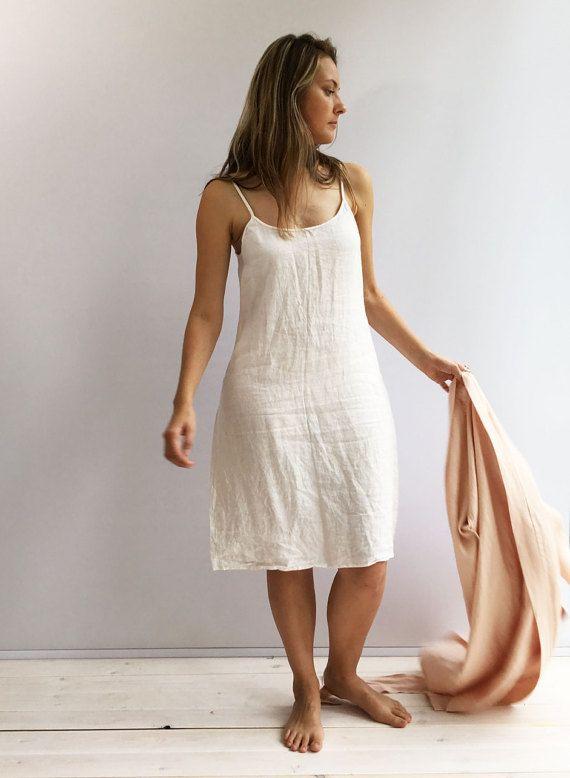 Vestido vestido de lino Slip capa Base Underdress vestido