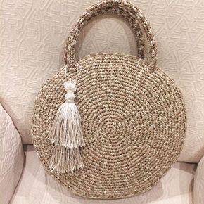 8f60e303c884 Пряжа Рафия и 10 сумок из неё | Вязание спицами, крючком | Crochet ...