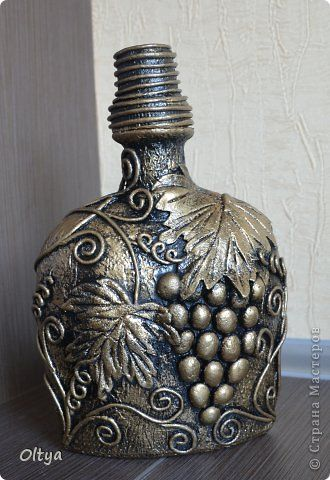 Decor items Application of twisted paper of the flagella Vine bottle glass bottles Clay Dough salt 4 photos