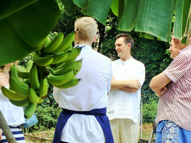 #HOTELS #SWD #GREEN2STAY Six Senses Ninh Van Bay - Vietnam General Manager Gary Henden welcomes guests to the organic garden for an organic cooking demonstration with visiting chefs Paul Merrett and Anton Manganaro. — at Six Senses Ninh Van Bay - Vietnam.