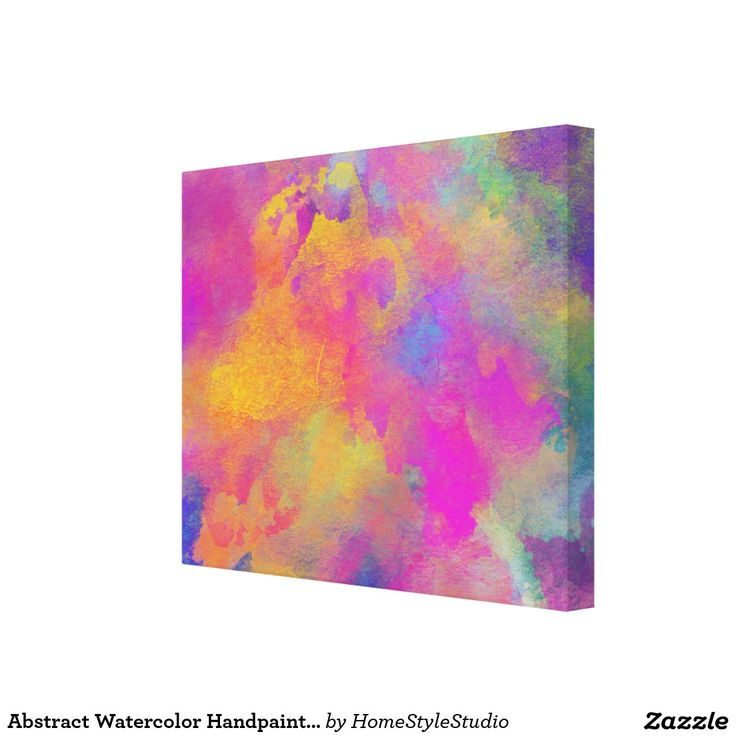 Abstract Watercolor Handpainted Modern Abstract Canvas Print