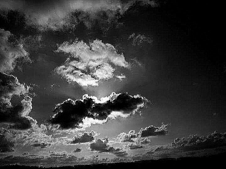 B&W - clouds
