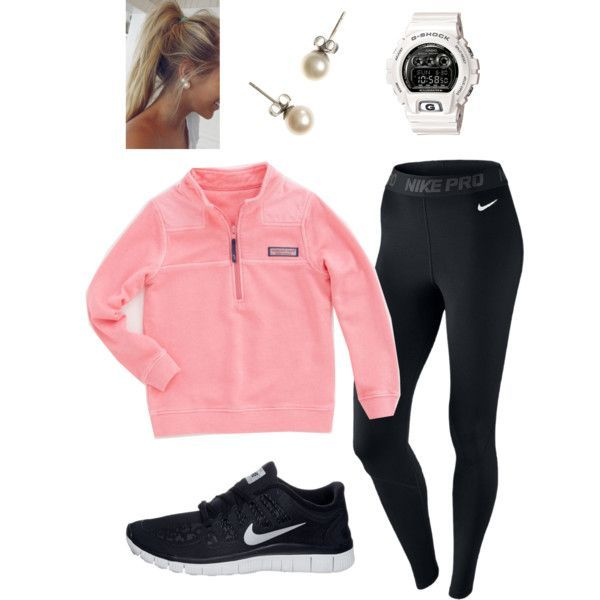 A fashion look from December 2013 featuring NIKE activewear pants, NIKE shoes and J.Crew earrings. Browse and shop related looks.