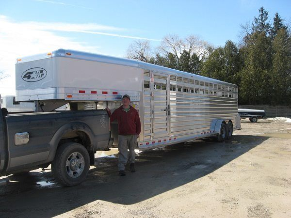 61 best dream trailers images on pinterest horse trailers thanks to the donaldsons and everspring farm ltd from ilderton ontario they purchased this long custom gooseneck livestock trailer from granton trailers sciox Image collections