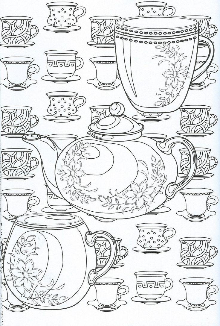 подробной карте рисунки чайного сервиза или места