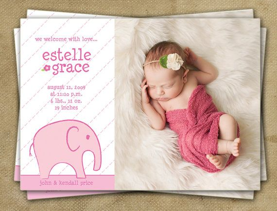 9 best Etsy Baby Announcements images – Birth Announcements Etsy