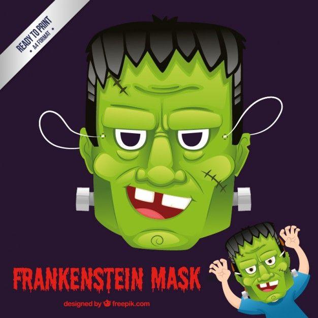 Máscara de Frankenstein Vector Gratis