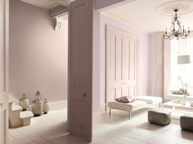 appartement rose pale maitre en couleurs salon living