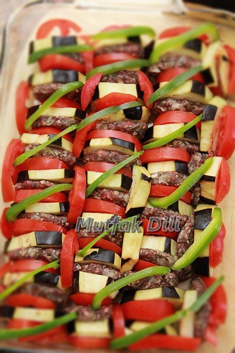 ✿Mutfak Dili ✿: Antep Kebabı ( Patlıcan Dizme)