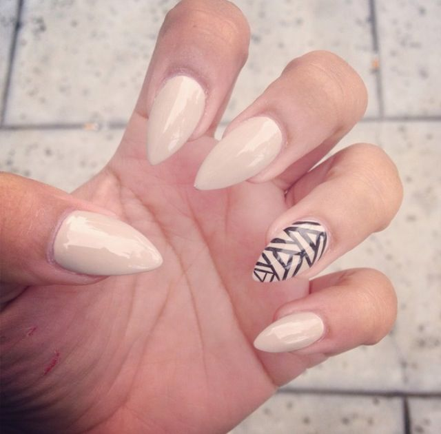 I want almond shaped nails - 232 Best Nails Images On Pinterest Nude Nails, Almond Shape