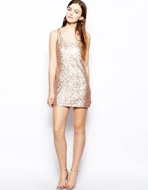 Enlarge French Connection Ice Cream Sequin Dress