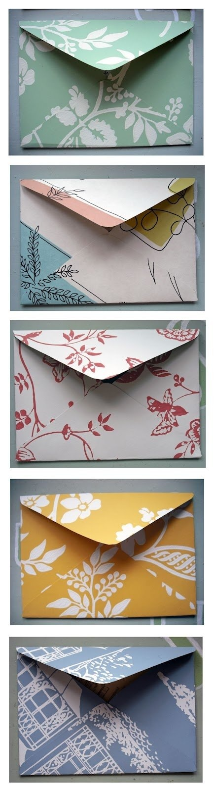 For the bridesmaids? How to make envelopes from scrapbook paper