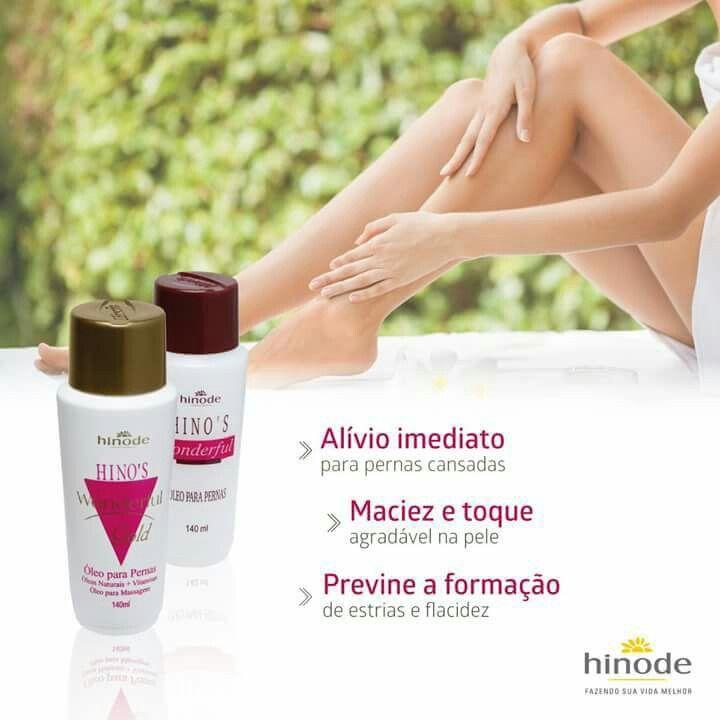 Sabia que o nosso óleo para as pernas foi o primeiro produto desenvolvido pela Hinode? 28 anos mais tarde, o Hino's Wonderful continua fazendo o maior sucesso