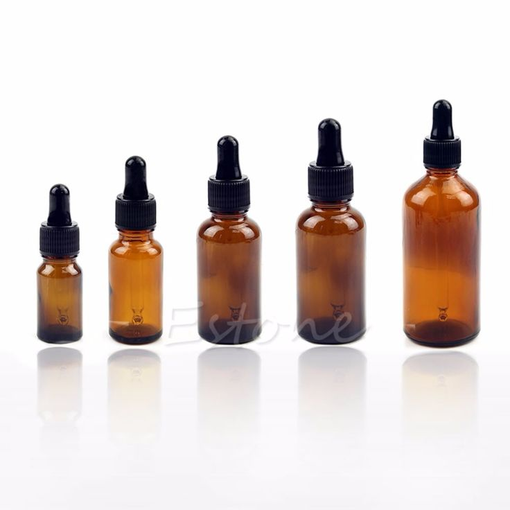 10-100ML Reagent Eye Dropper Drop Amber Glass Aromatherapy Liquid Pipette Bottle