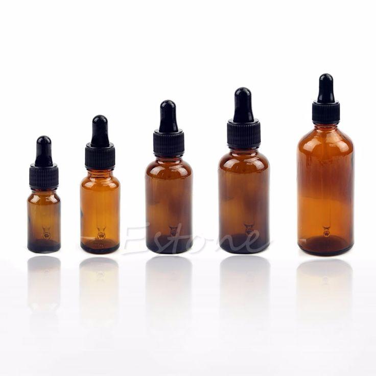 10-100ML Reagent Eye Dropper Drop Amber Glass Aromatherapy Liquid Pipette Bottle