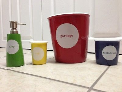 Pottery Barn Kids Bathroom Set Toothbrush Holder Cup