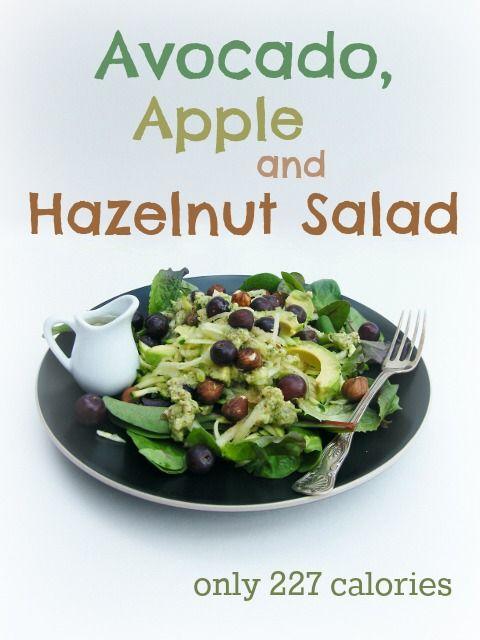 Tinned Tomatoes:  Avocado, Apple & Hazelnut Salad = 227 calories