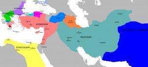 Hellenistic Period. Map of the Successor Kingdoms, c. 303 BCE (Javierfv1212)