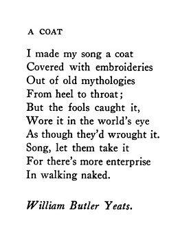A Coat - William Butler Yeats❤️❤️