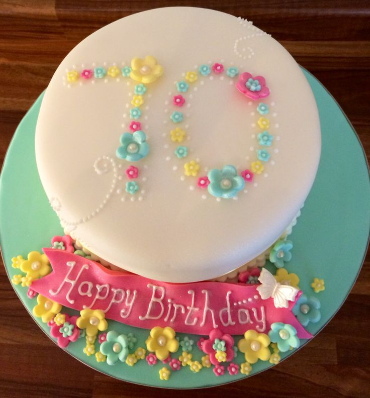 70th birthday cake You could easily buy a plain cake and add your own personalised decorations this way