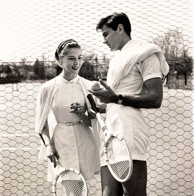 op tennisles!