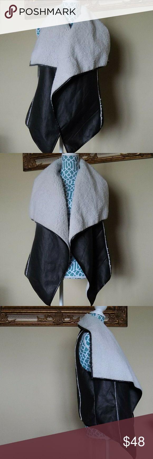 Giani Bini Black Fur Vest Giani Bini Black Fur Vest never worn Gianni Bini Jackets & Coats Vests