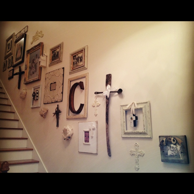 My stairwell wall