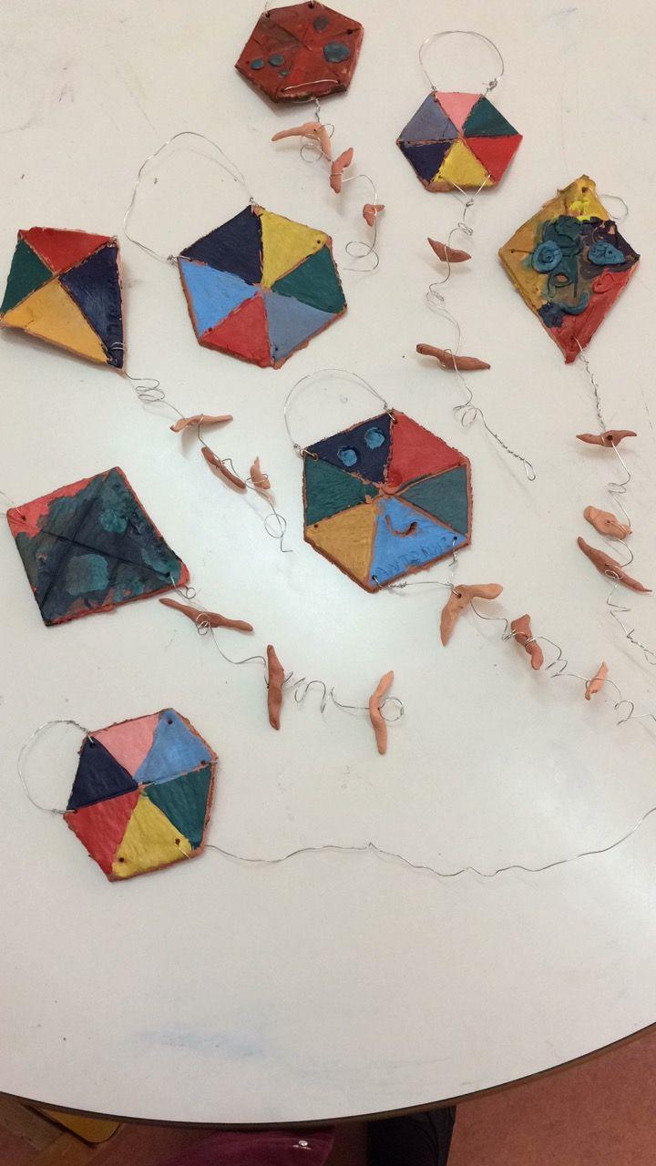 #Kites #ceramic #clay #preschoolers