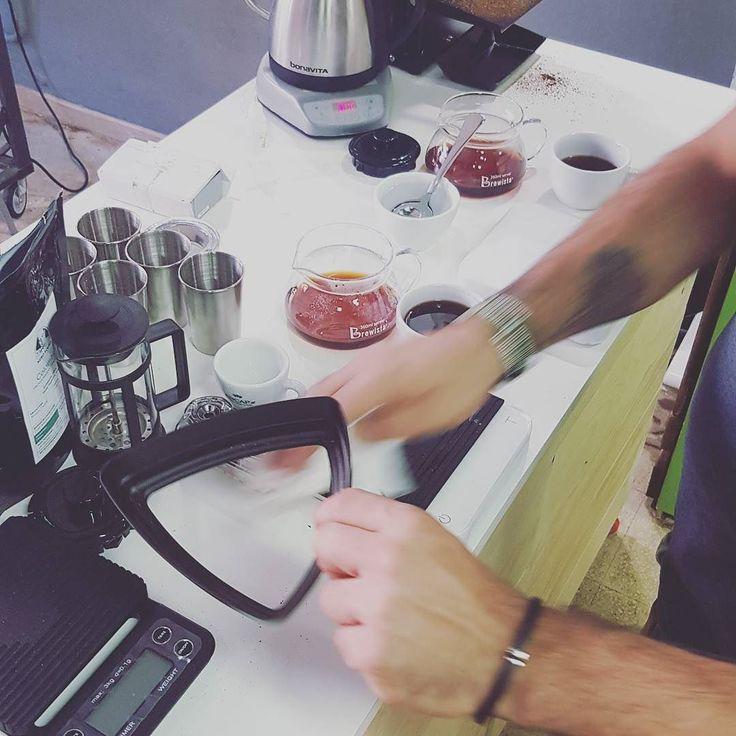 Brewing today snapshot #Brewing #Coffee #CoffeeTrainingAcademy #masterclass #Coffeepassion #Barista