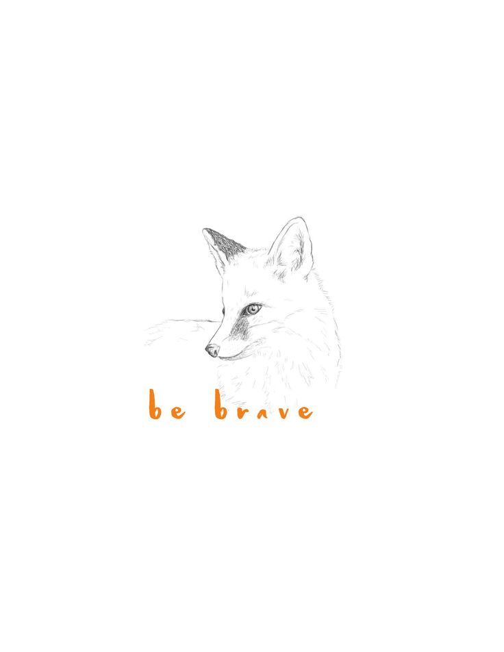 How cute is this little fox! This printable art would be so perfect for a nursery decor!