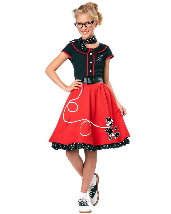 ca8c6bf67e94 50s Red Sweetheart Girls Costume from Costumebox. 50s Red Sweetheart Girls  Costume from Costumebox Poodle Skirt Halloween ...