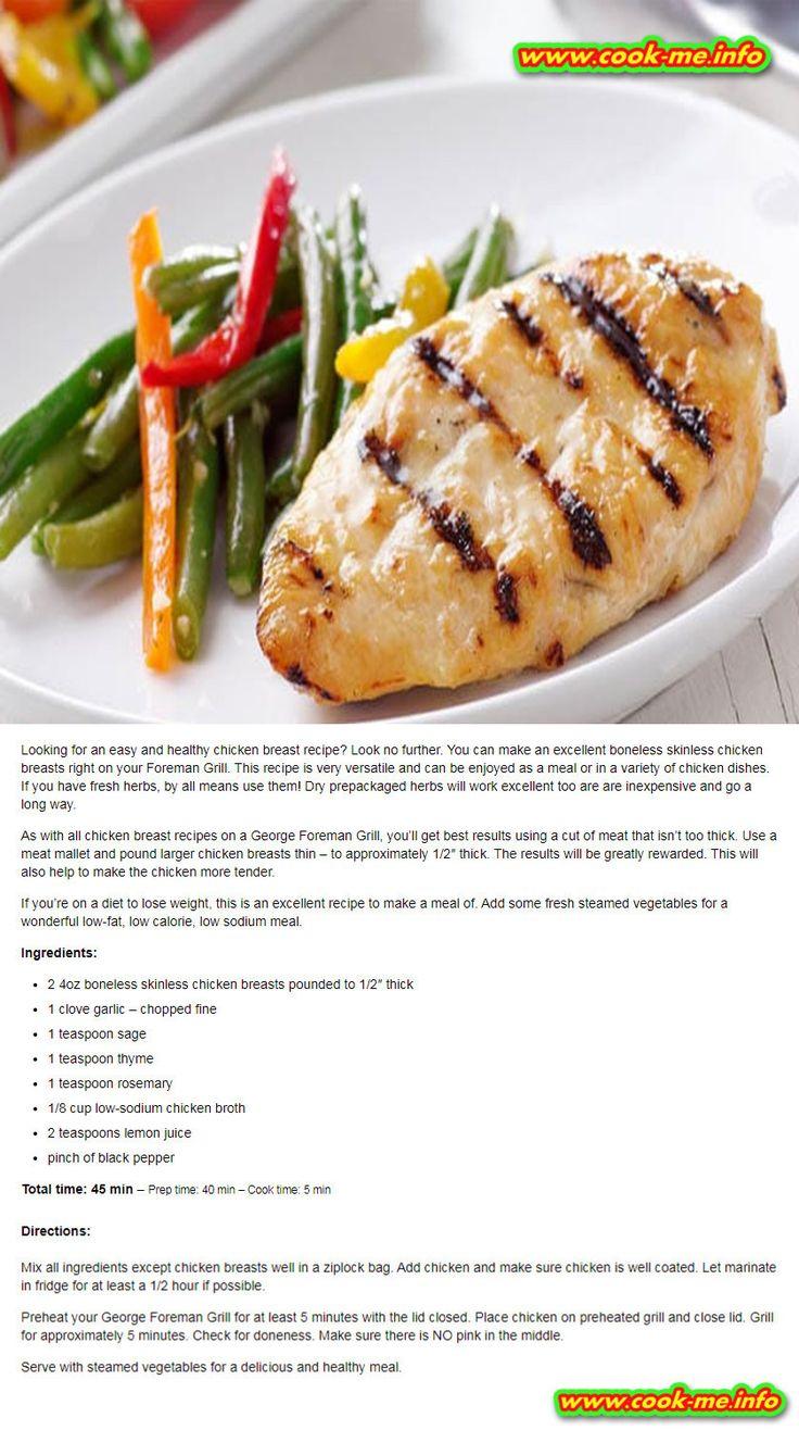 Healthy Grilled Chicken Breast Recipe