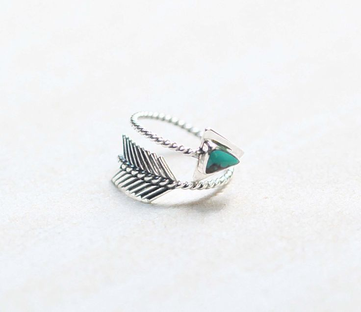 Arrow Ring, Turquoise Ring, 925 Sterling Silver Ring, Turquoise Jewelry, Boho Style, Adjustable Ring, Gypsy Arrow Ring by DonBiuSilver on Etsy