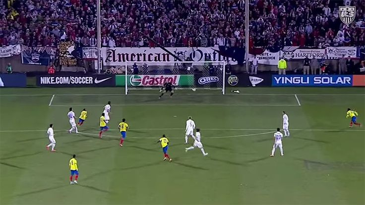 Enner Valencia scores an extraordinary goal which seems to defy physics.