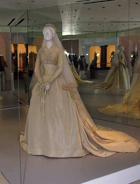Grace Kelly's Original Wedding Dress.This was last time it was exhibited outside of Philadelphia (Princess Grace gifted it to the Museum shortly after the 1956 wedding ) as it is too fragile to travel any more. An exact replica has been created and that is the gown shown at other Grace Kelly exhibitions.It was exhibited in dim lighting because of its delicate nature.Now it remains in storage in the Philadelphia Art Museum, too fragile to even display there ! Such a loss for Grace fans......