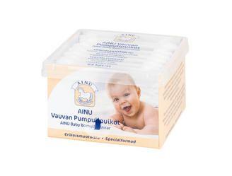 Ainu Vauvan pumpulipuikot http://www.ainu.fi/tuotteet/ainu-vauvan-pumpulipuikot