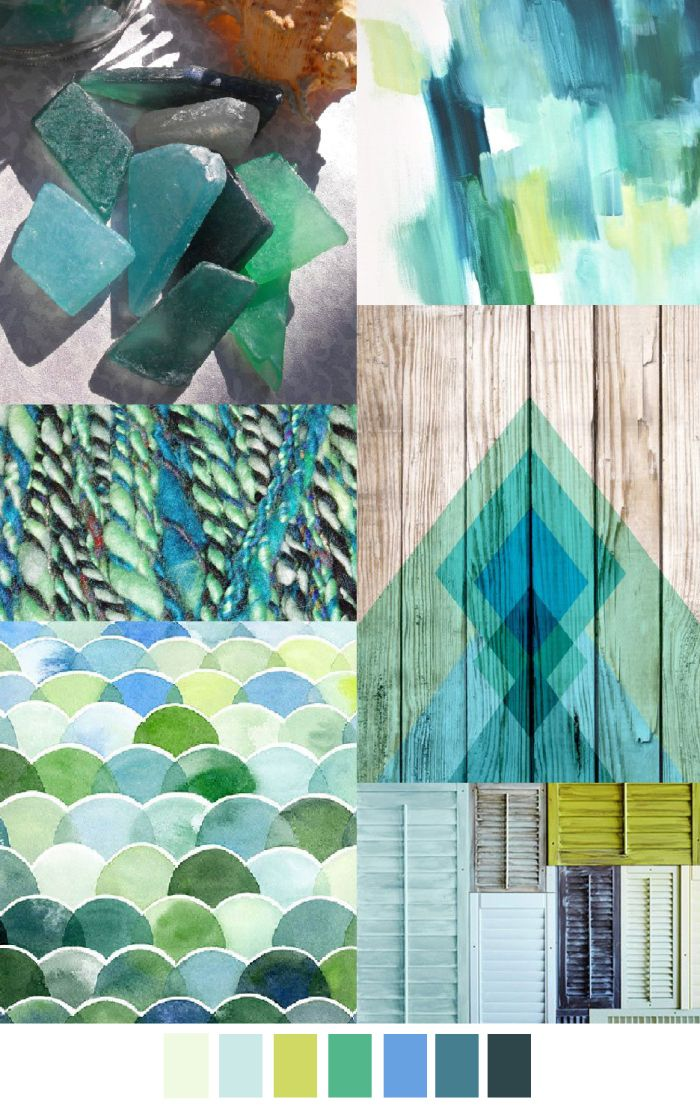 Sea glass patterns, colour and inspiration, perfect for Coastal style