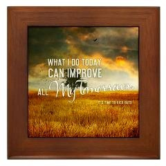Framed Tile > 2013 What I Do Today + Gifts > TimeToKickBuTs Store  $12.99