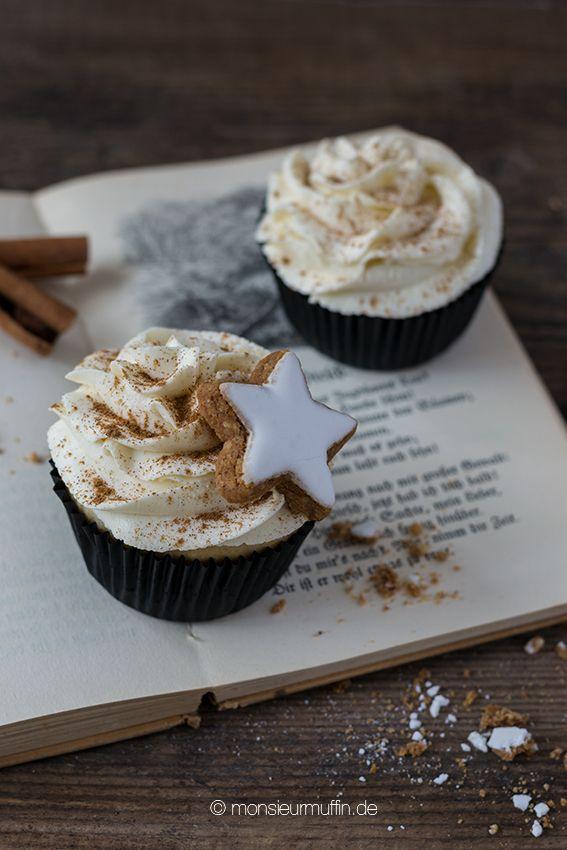 Zimtstern-Muffins| cinnamon muffins| Weihnachtsmuffins| christmas cupcakes| cupcakes | © monsieurmuffin