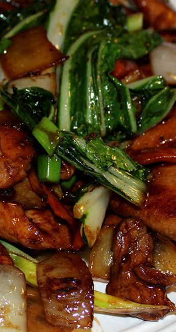 Chicken & Bok Choy Stir-fry ~ With oyster sauce, hoisin sauce, sesame oil, ginger and garlic to give it all the elements of this Asian favorite