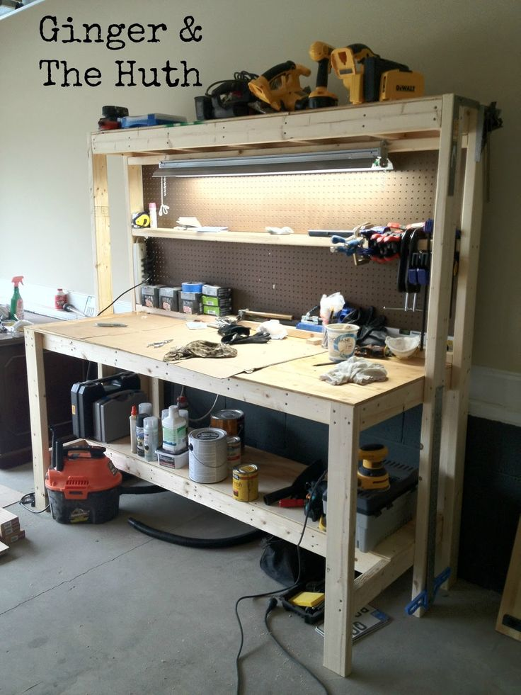 Ginger & The Huth: DIY Work Bench - complete instructions