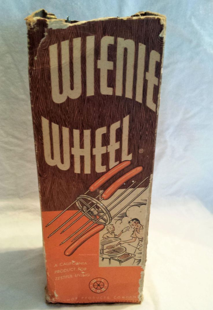 Vintage Wienie Wheel, BBQ/grill attachment, rotisserie, original box, Wil Nor Products, Tarzana California 1950s by KathleenNCo on Etsy