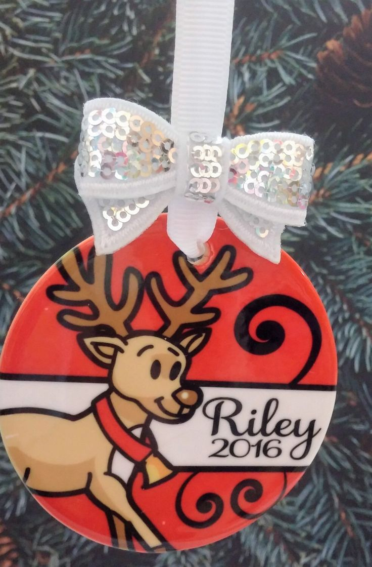 Personalized name ornaments - Christmas Ornament Personalized Reindeer Ornament W Name Year 2017 Holiday Gift Ceramic Xmas Gift
