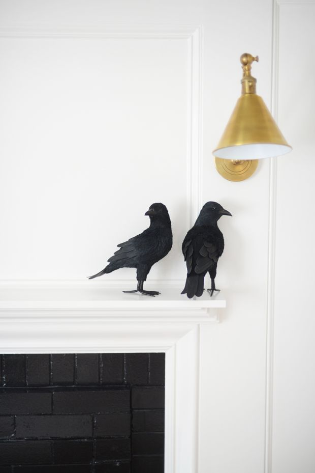 crows on the mantel