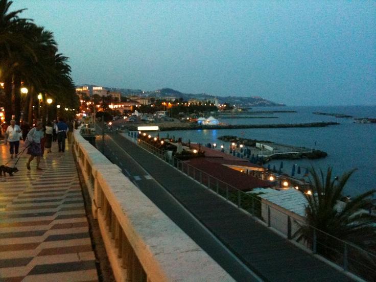 Boardwalk. San Remo, Italy.