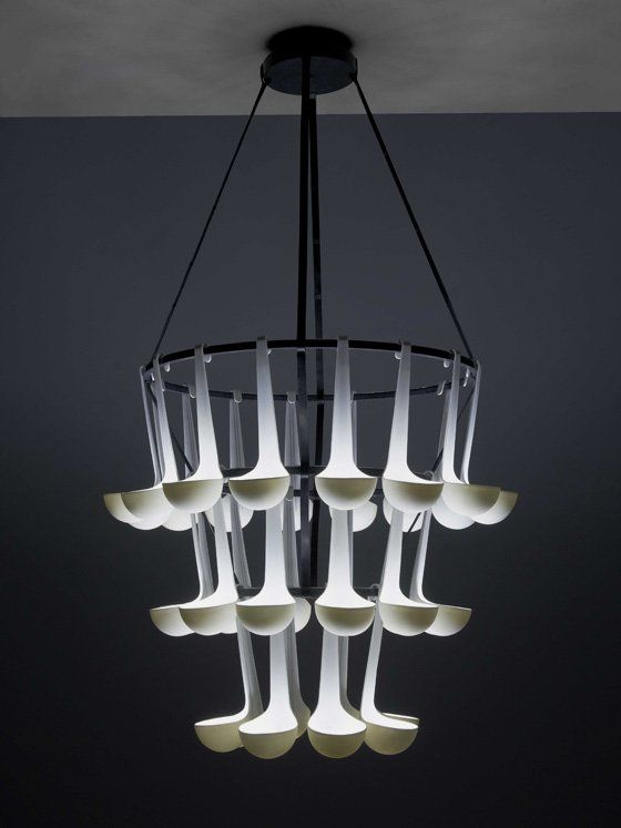 Unique Pendant Lamp Composed of Ladle   Ursule