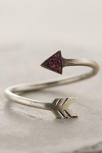 Sagitta Ruby Arrow Ring #anthropologie #flashpaperscissors