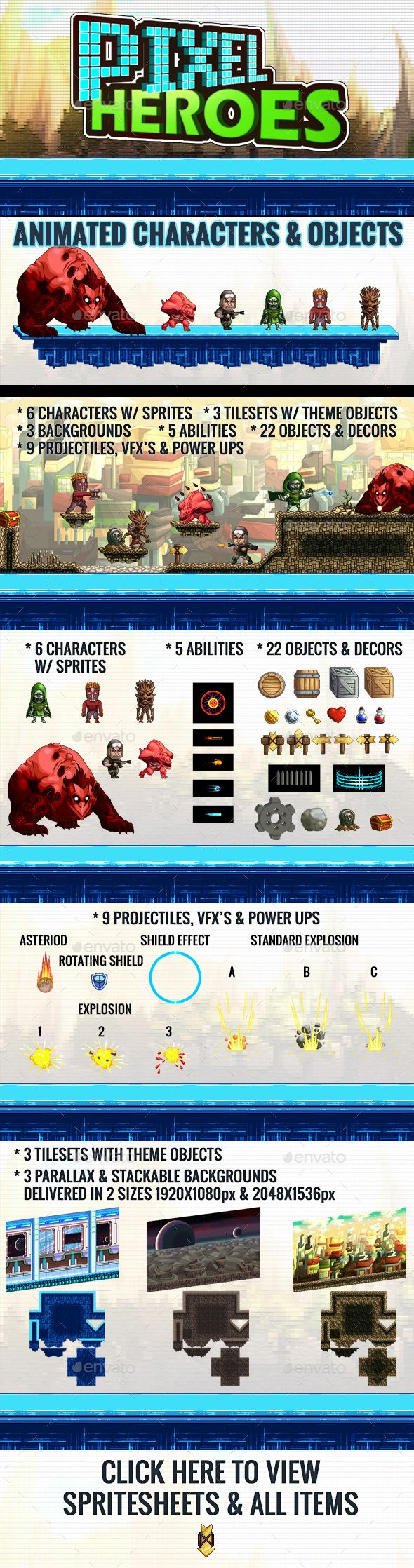 Pixel Heroes Kit 3 - Game Kits Game Asset Design Template PSD. Download here: http://graphicriver.net/item/pixel-heroes-kit-3/16527956?s_rank=504&ref=yinkira