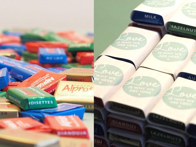 Individualisierte Geschenke aus Schokolade | Hochzeitsblog